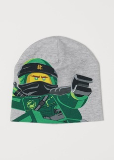 H&M H & M - Jersey Hat with Printed Design - Gray