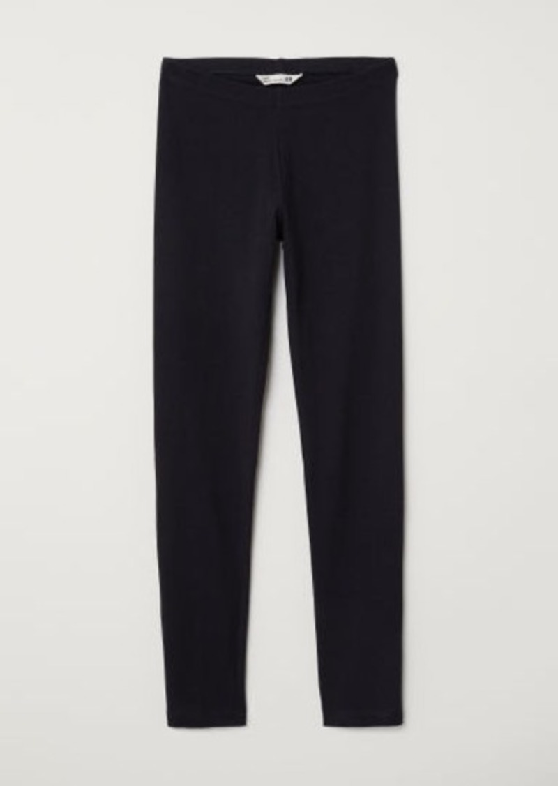 H&M H & M - Jersey Leggings - Black