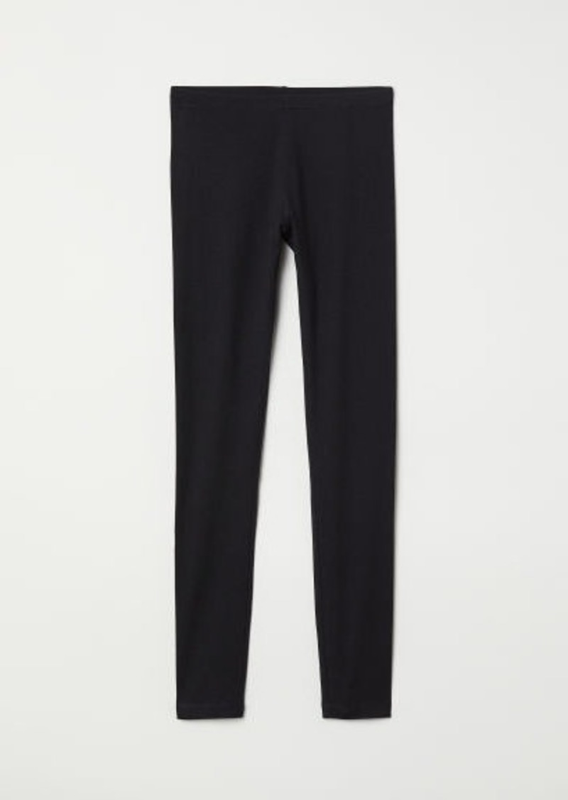 ae8e903720beb H&M H & M - Jersey Leggings - Black | Casual Pants
