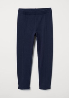 H&M H & M - Leggings with Brushed Inside - Blue