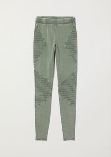 H&M H & M - Jersey Leggings - Green