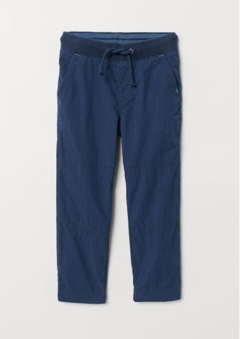 H&M H & M - Jersey-lined Pants - Blue