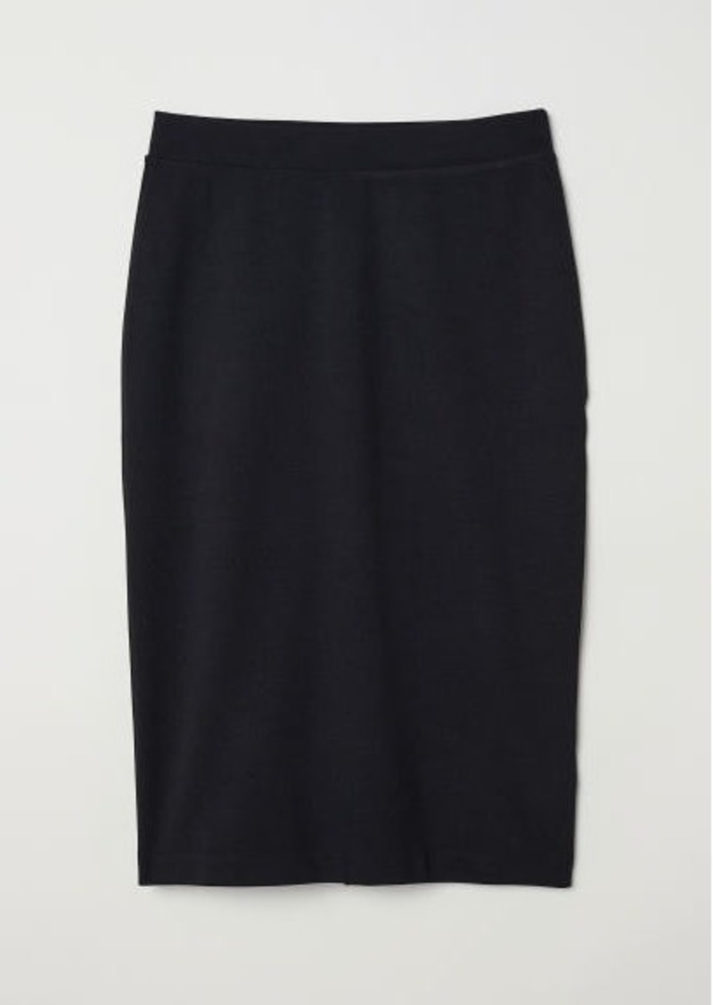 dab6995a5 H&M H & M - Jersey Pencil Skirt - Black | Skirts