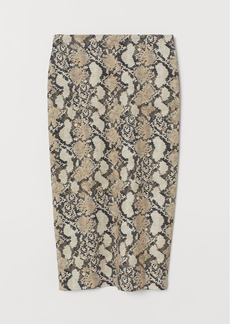 H&M H & M - Jersey Pencil Skirt - Yellow