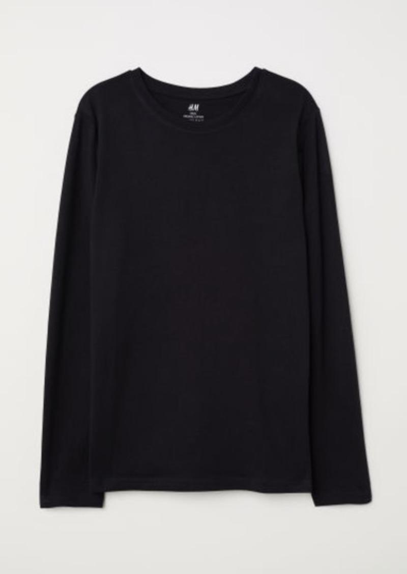 H&M H & M - Jersey Shirt - Black