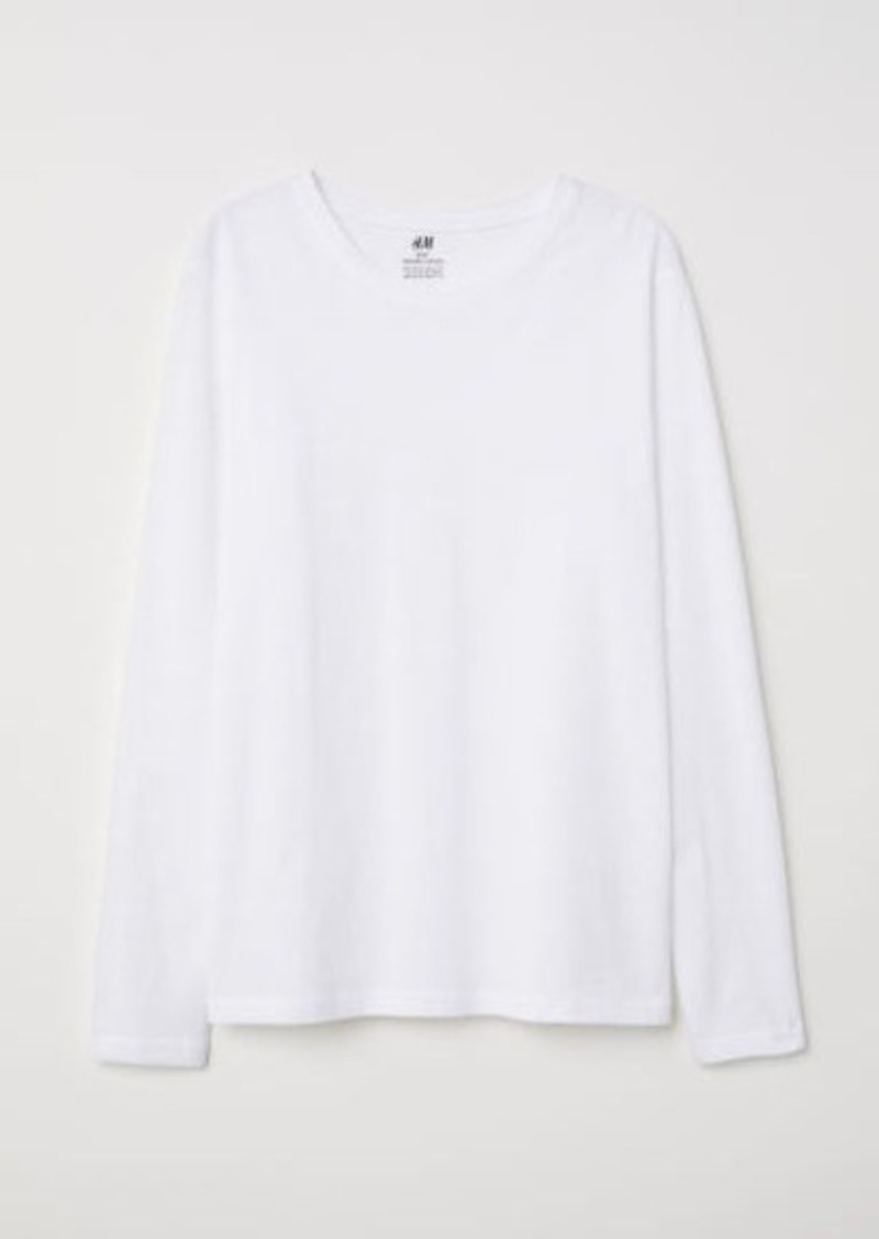 H&M H & M - Jersey Shirt - White