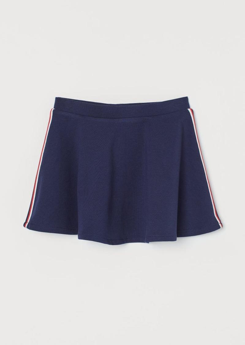 H&M H & M - Jersey Skater Skirt - Blue