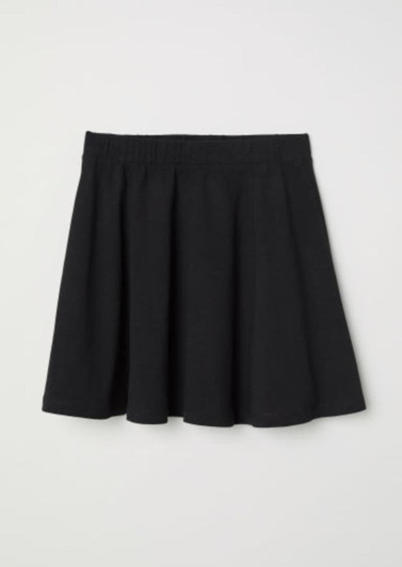H&M H & M - Jersey Skirt - Black