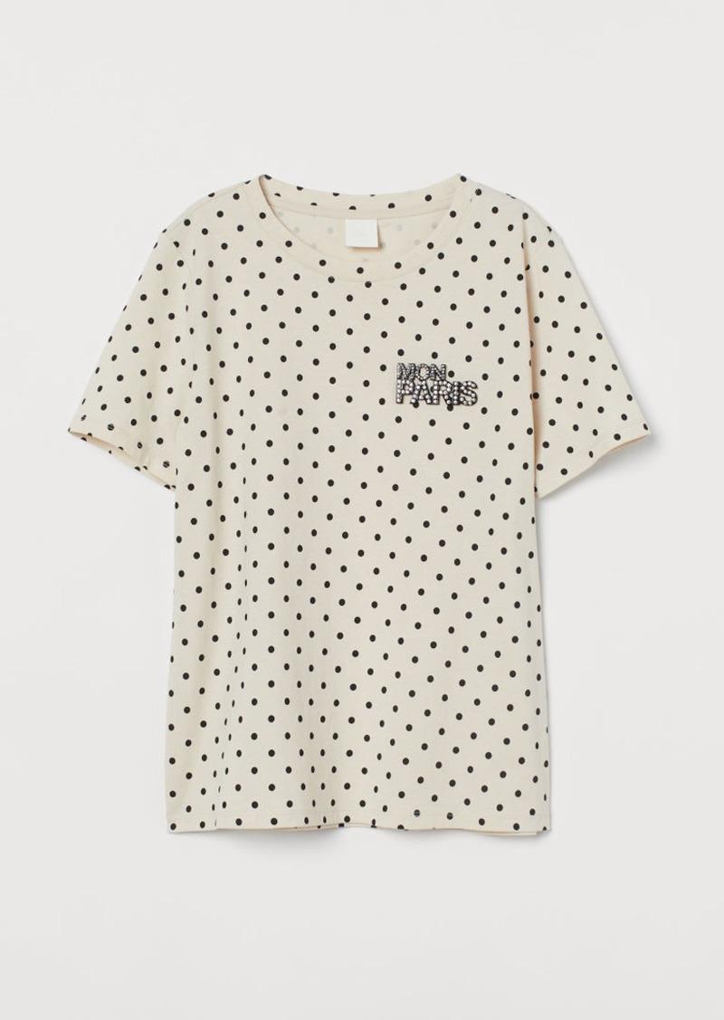 H&M H & M - Jersey T-shirt - Beige