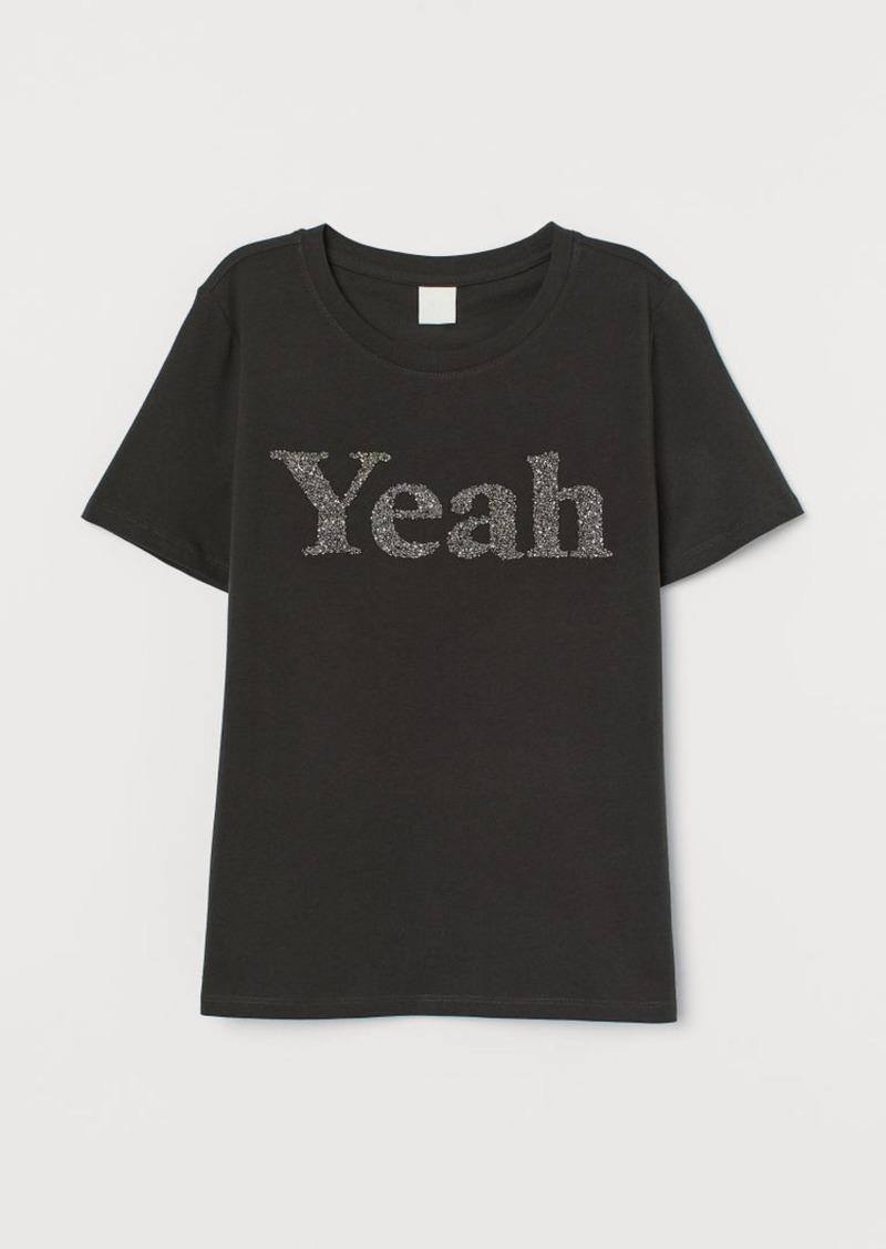 H&M H & M - Jersey T-shirt - Black
