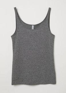 H&M H & M - Jersey Tank Top - Black