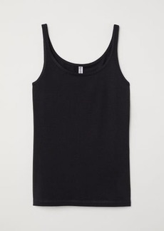 H&M H & M - Jersey Tank Top - Black