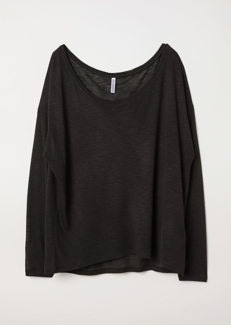 H&M H & M - Jersey Top - Black