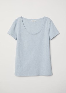 H&M H & M - Jersey Top - Blue