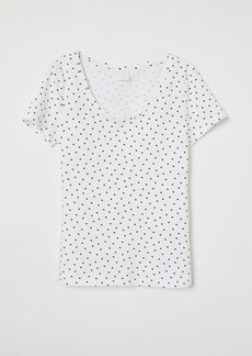 H&M H & M - Jersey Top - White