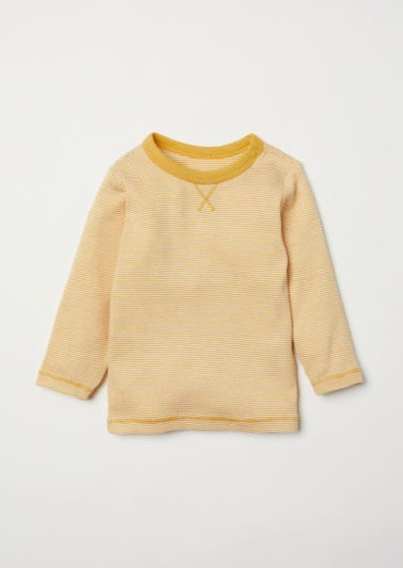 H&M H & M - Jersey Top - Yellow