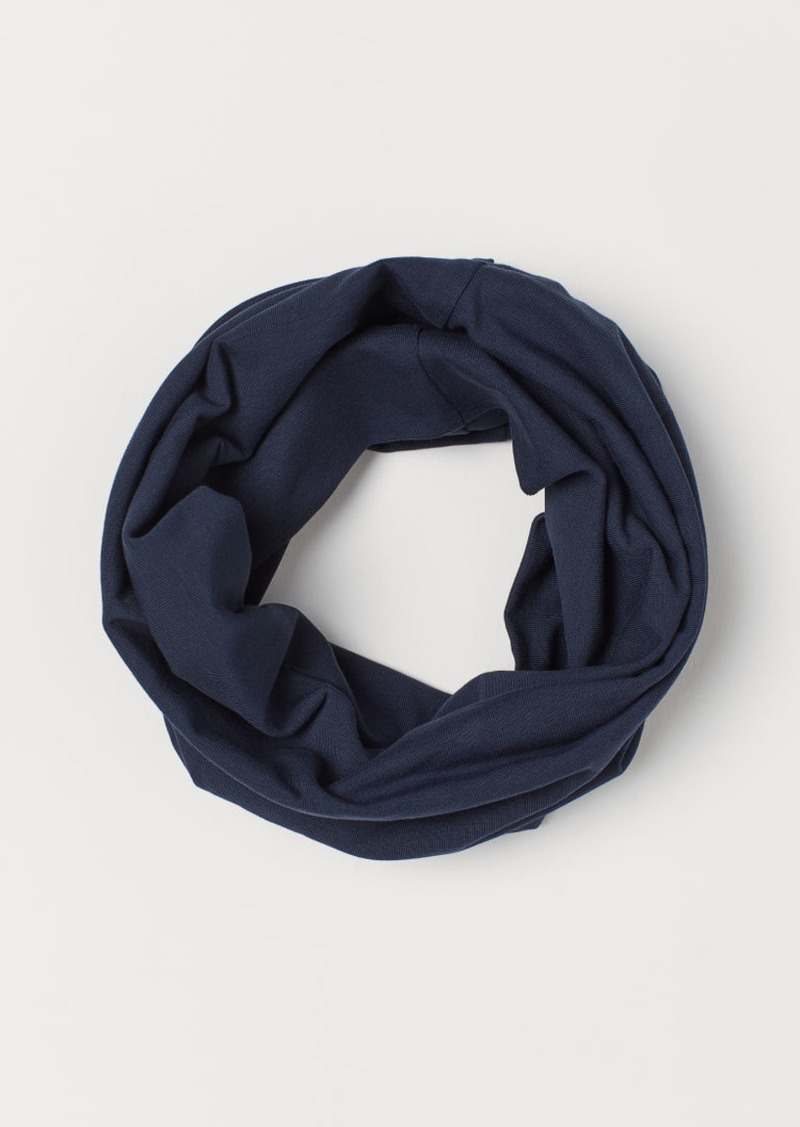 H&M H & M - Jersey Tube Scarf - Blue