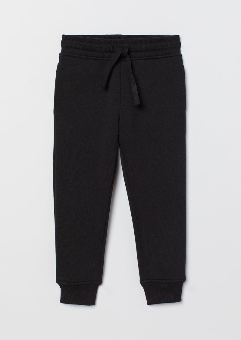 H&M H & M - Cotton-blend Joggers - Black