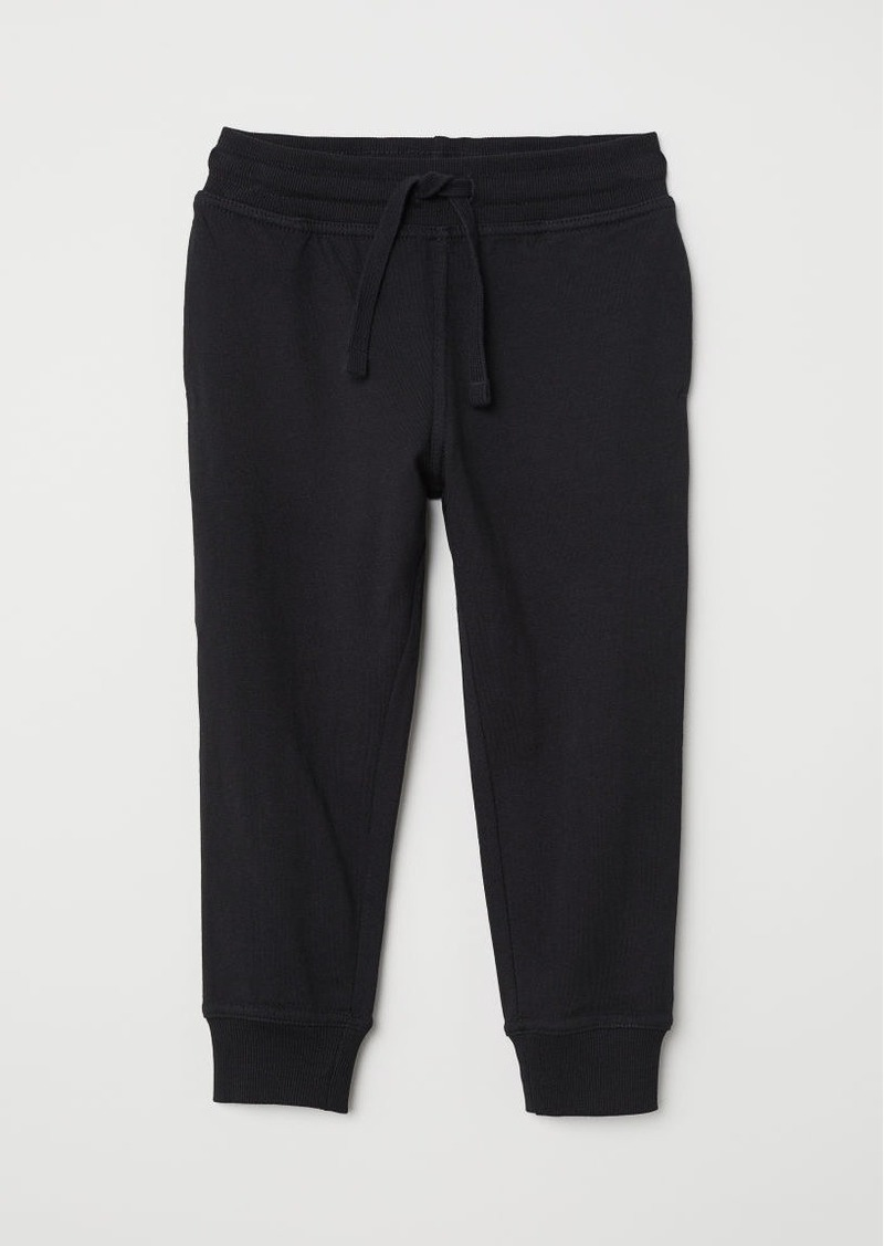 H&M H & M - Cotton Jersey Joggers - Black