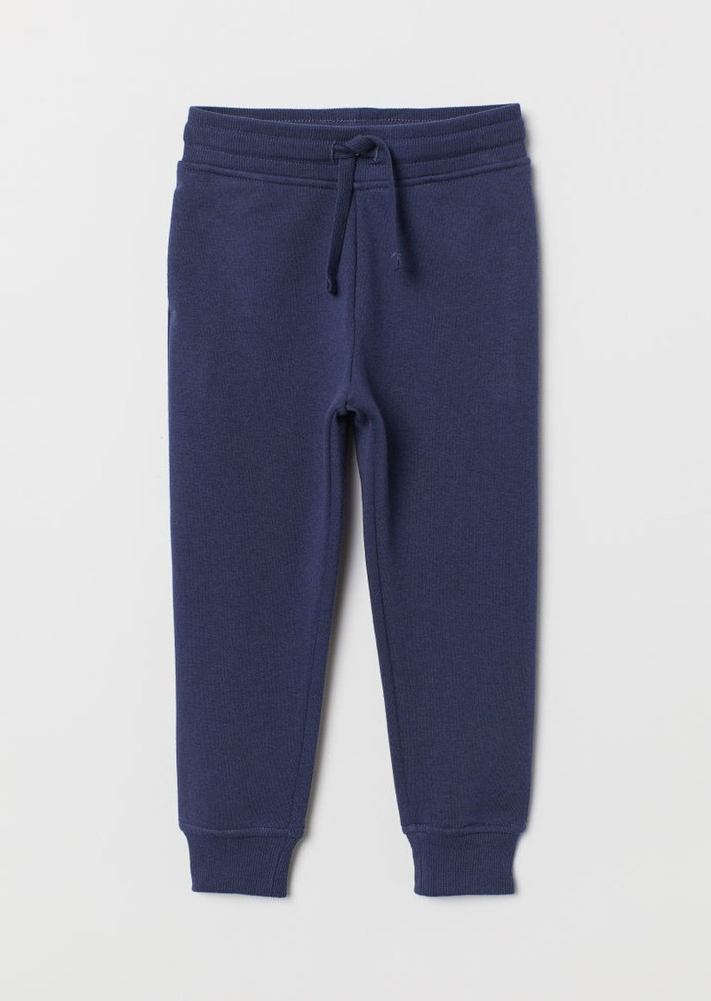 H&M H & M - Cotton-blend Joggers - Blue