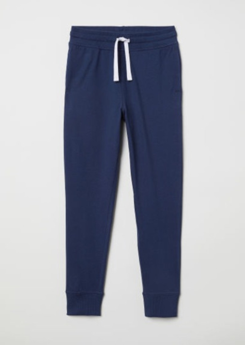 H&M H & M - Cotton Jersey Joggers - Blue