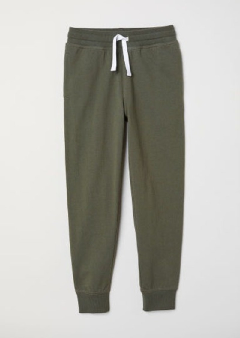 H&M H & M - Cotton Jersey Joggers - Green