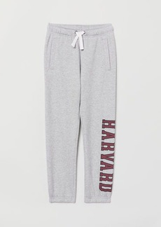 H&M H & M - Joggers with Printed Design - Gray