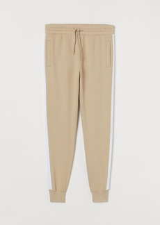H&M H & M - Joggers with Side Stripes - Beige
