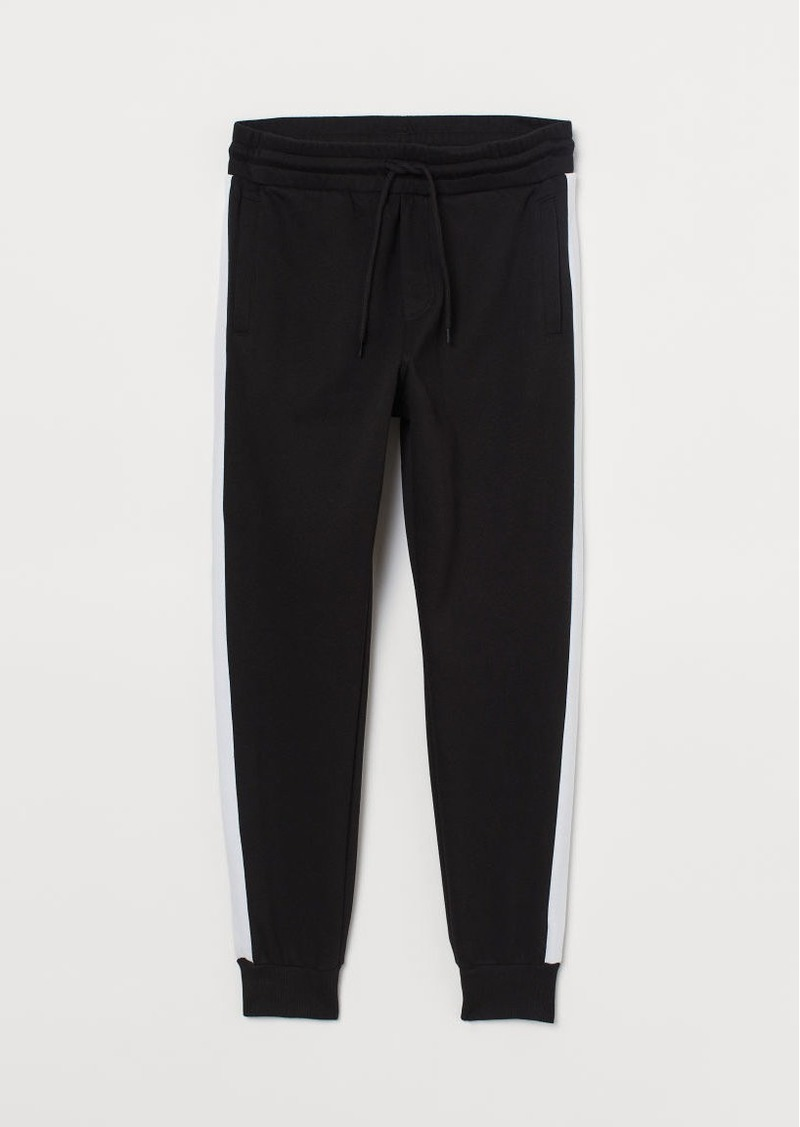 H&M H & M - Joggers with Side Stripes - Black
