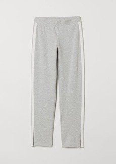 H&M H & M - Joggers with Side Stripes - Gray