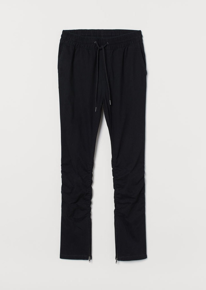 H&M H & M - Joggers with Zips - Black
