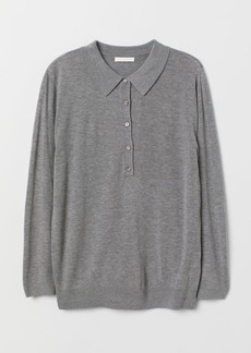 H&M H & M - Sweater with Collar - Gray