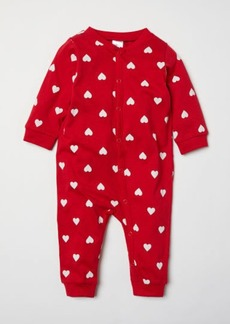 H&M H & M - Jumpsuit with Christmas Print - Red