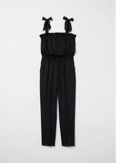 H&M H & M - Jumpsuit with Flounce - Black