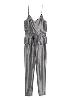 H&M H & M - Jumpsuit with Flounce - Gray