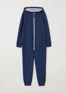 H&M H & M - Jumpsuit with Hood - Blue