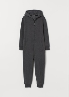 H&M H & M - Jumpsuit with Hood - Gray