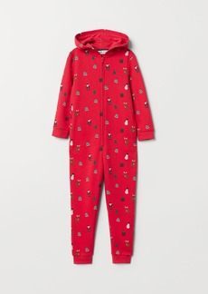 H&M H & M - Jumpsuit with Hood - Red