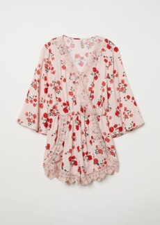 H&M H & M - Jumpsuit with Lace - Pink