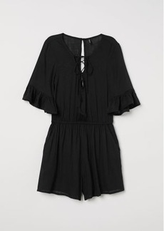 H&M H & M - Jumpsuit with Lacing - Black
