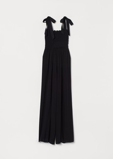 H&M H & M - Jumpsuit with Smocking - Black
