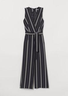 H&M H & M - Jumpsuit with Tie Belt - Black