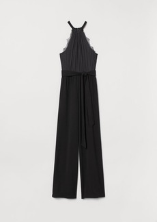 H&M H & M - Jumpsuit with Tie Belt - Black