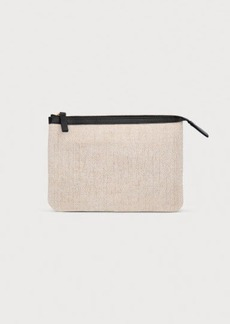 H&M H & M - Jute-blend Makeup Bag - White