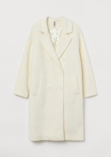 H&M H & M - Knee-length Coat - White