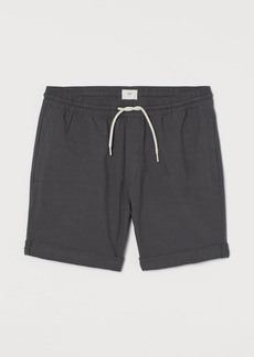 H&M H & M - Knee-length Cotton Shorts - Black