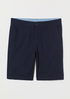 H&M H & M - Knee-length Cotton Shorts - Blue