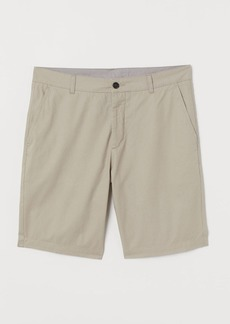H&M H & M - Knee-length Cotton Shorts - Brown