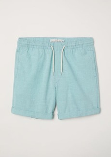 H&M H & M - Knee-length Cotton Shorts - Green