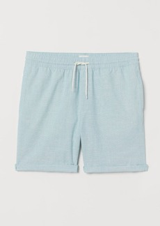 H&M H & M - Knee-length Cotton Shorts - Turquoise